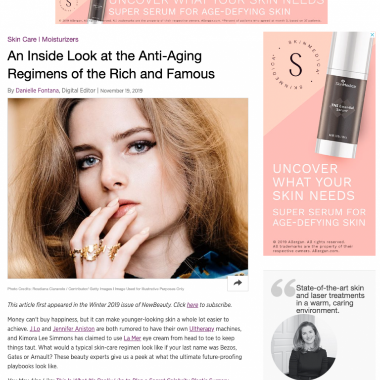 Dr. Pia Lieb talks with NewBeauty.com about her Anti-Aging Regimen