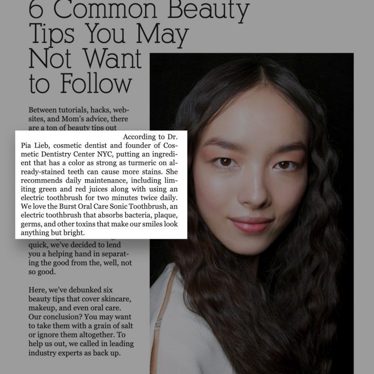 Link to a JAMO Article about 6 common beauty tips you may not want to follow.